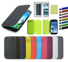 Luxury PU Flip Leather Case Cover For Samsung Galaxy S3 S III i9300-12 Color  In