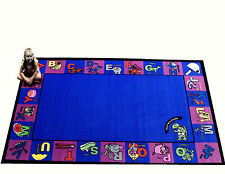 8' x 10' Alphabet Charlie Educational Area Rug School Daycare Kids Room New