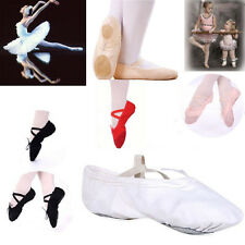 Womens girls Kids Soft Canvas Ballet Dance Shoes Fitness Gymnastics Slippers