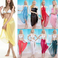 Sexy Women Pareo Dress Sarong Beach Bikini Swimwear Cover Up Long Scarf Wrap