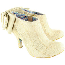 Womens Irregular Choice Baby Beauty Bow Zip Ankle Boot Party High Heel UK 3-8
