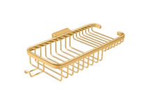 """Shower Wire Basket 10-3/8"""" Combo Solid Brass in 5 Finishes By FPL Door Locks"""