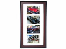 Creative Frames 4 Opening Mahogany Picture Frame w/Glass holds 4x6 in 10x20 mat
