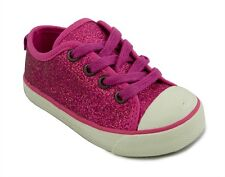 NEW Pink Glitter Sneakers Shoes 77Kids American Eagle Infant Toddler 5 6 7 8 9