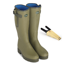 Le Chameau Vierzonord Mens Neoprene Lined Rubber Wellington Boots Wellies