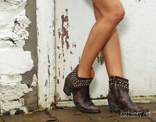 Old Gringo Mini Belinda Brown Leather Studded Ankle Boots