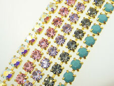 Austrian Crystal Rhinestone Chain 6mm (30SS) 1 Foot - Choose Color & Finish