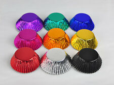 USA SELLER Aluminum Foil Cupcake Liners Muffin Baking Cases Decoration Liners
