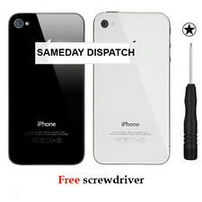 Genuine Glass Replacement Back for iPhone 4 4S Rear Battery Cover Case Housing