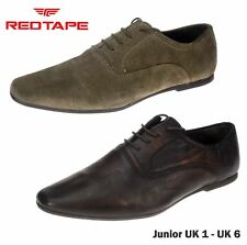 Red Tape Lace Up Junior Brown Stone Shoes Kids Pointy Toe Wedding UK 1-6