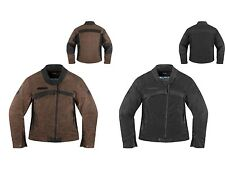 *Fast Shipping* ICON Womens Hella 1000 Motorcycle Jacket (Black, Brown)