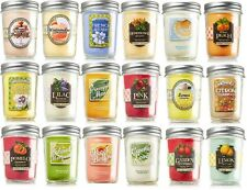 Bath & Body Works MASON JAR SCENTED CANDLES You Pick Your Favorite Scent Fruits
