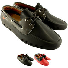 Mens Mocks Mocklite Boater Slip On Lace Up Mocassin Boat Holiday Shoes UK 7-12