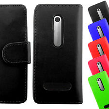 Wallet Book Flip Leather PU Magnetic Case Cover Card Holder For Nokia N206