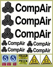 COMPAIR Decals Stickers x 7 for Compressor / Mini Digger / Dumper