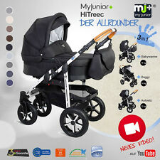 NEW! NEW! KOMBIKINDERWAGEN MY JUNIOR+®HiTreec 3 IN 1 KINDERWAGEN PRAM BUGGY