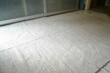 Natural Heavy 100% Cotton woven rugs. 3 sizes, Ivory with Beige fleck Large size