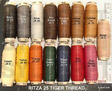 Waxed Tiger Thread - Ritza 25 - For Hand Sewing Leather - Julius Koch - 1.0mm