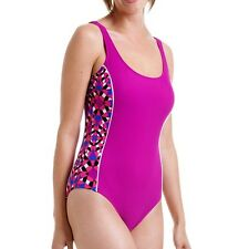 Catalina Womens Sporty H-Back One Piece Swimsuit, Berry, Size S