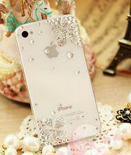 Simple lucky flowers handmade crystal clear case cover for Apple iphone 5 5s