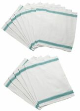 Pack of Herringbone Weave Kitchen Tea Towels Absorbent Cotton Catering Cloths