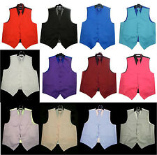 NEW Mens Dress Vest and Neck Tie Set 12Colors All sizes