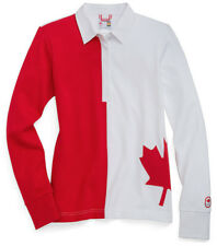 OLYMPIC COLLECTION Sochi 2014 Women's Canada Maple Leaf Rugby Shirt SALE