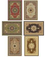 Burgundy Ivory Green Beige Black Isfahan Oriental Area Rugs Carpet  Special Sale