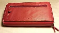 NWT ROLFS LEATHER DOUBLE ZIP AROUND WALLET CHECKBOOK, MSRP $40, MULTIPLE COLORS