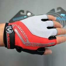 Red Cycling Gloves Practical Mountain Bike Bicycle Fingerless Gloves S/M/L/XL