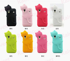 3D Cat Soft Silicone case For Samsung Galaxy Ace S5830 Protective Back Cover