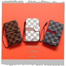 For Samsung Galaxy S4 Luxury Deluxe Checker Wallet Flip Case/Cover + Gift #LV2GG