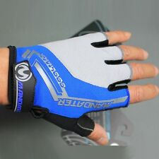 Blue Cycling Gloves Practical Mountain Bike Bicycle Fingerless Gloves S/M/L/XL