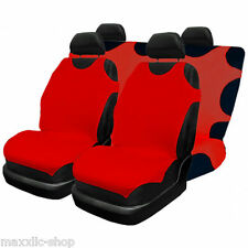Set 2 FRONT and BACK SEAT COVERS  CAR SEAT COVER  COTTON COLOURS !