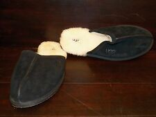 New Mens UGG Scuff Black Suede Sheepskin Slippers