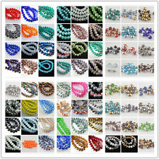 Wholsale 100Pcs 4x3mm Faceted Glass Charms Beads Spacer Rondelle Finding Lot