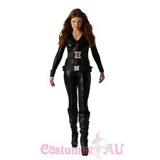 The Avengers Black Widow Costume Licensed Halloween Fancy Dress Costume Outfits
