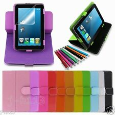 """Rotary Leather Case+Gift For 7-Inch Mach Speed 7"""" Trio Stealth G4 G2 Tablet GB3"""