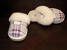 New Womens UGG Cozy Knit Plaid Fig Slippers Winter Snow Warm Shoes