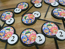 TEAM UMIZOOMI 12 Cupcake Topper/food picks w/ Custom birthday childs age LOT