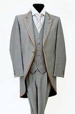 MJ-71 LIGHT GREY WILVORST TWO PIECE FORMAL TAILS SUIT WEDDING MORNING MENS