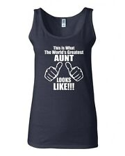 Junior This Is What The World's Greatest Aunt Looks Like Graphic Tank Top