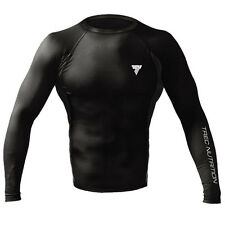 TREC Wear RUSH 002 Black /Long-sleeve Guard Shirt for Workout /Thermal comfort
