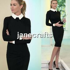 Lady Women Long Sleeve Slim Bodycon Stretch Cocktail Party Evening Pencil Dress