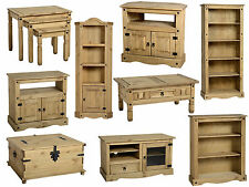 Seconique Corona Mexican Solid Pine Furniture Dining & Living Room - Waxed Pine