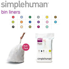 Simplehuman Replacement Custom Fit Bin Liners Bags In All Sizes
