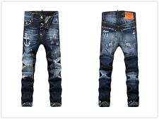 Men Italy Fashion Distressed Jeans _1297 Size 28-36 Destroyed Ripped Biker Pants