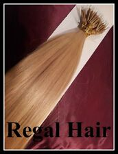 "18""NANO TIPS/RINGS #20 1G AAAAGRADE HUMAN HAIR EXTENSIONS 100ST UK SELLER"