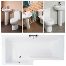 Left Hand 1675 Shower Bath Including Panel & Screen With 2 Piece Bathroom Suite
