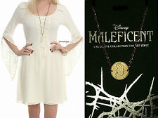 PRINCESS AURORA BELL SLEEVED DRESS WITH FREE NECKLACE MALEFICENT MOVIE EXCLUSIVE